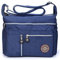 """Crossbody Bag-Made of lightweight water resistant fabric with leisure hardware,ZYSUN brand logo Adjustable Shoulder Straps-Offers versatile carrying options, Length 60CM-120CM/23.62""""-47.24"""" Multi Pockets Design-Keep your belongings safe and everything organized Dimension:11"""" L x 8.27"""" H x 3.94"""" D,Lightweight messenger bag for women travel and everyday use"""