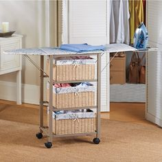 Ironing Center...need this!  No room for an ironing board.