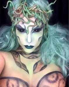 Medusa Makeup Look for Halloween