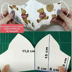 Fabric Crafts, Sewing Crafts, Sewing Projects, Sewing Stitches, Sewing Patterns, Halloween Candy Crafts, Easy Face Masks, Diy Hair Accessories, Diy Mask