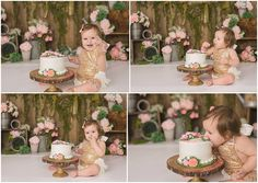 Michelle Voigt Photography Blog | Floral Themed Cake Smash – Michelle Voigt Photography – Bryan/College Station Photographer