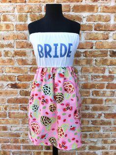 BRIDE Dress Pink Print Lg/XL by thearmorofGod on Etsy, $49.00