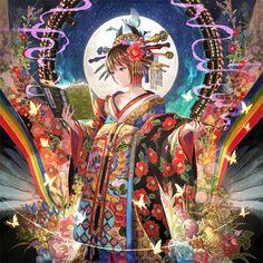 Japanese Princess - Other Wallpaper ID 2003986 - Desktop Nexus Anime Art And Illustration, Anime Kimono, Yukata Kimono, Anime Kawaii, Kawaii Art, Fantasy Kunst, Fantasy Art, Anime Dancer, Image Manga