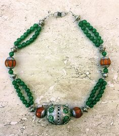 Copal Amber Necklace Berber Tribal Necklace Silver Necklace