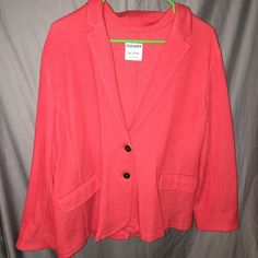 Old Navy Red Blazer XXL Red 2 Button blazer. Looks great with jeans and heels!  Worn a few times. Great condition Old Navy Jackets & Coats Blazers