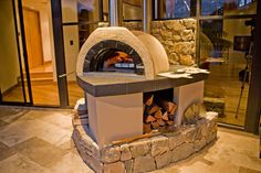 indoor pizza oven fireplace | Custom Wood Fired pizza Oven