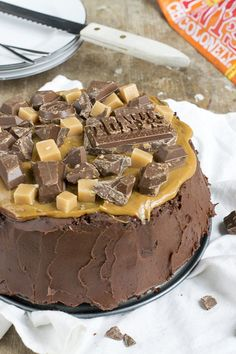 Tony Chocolonely taart met karamel