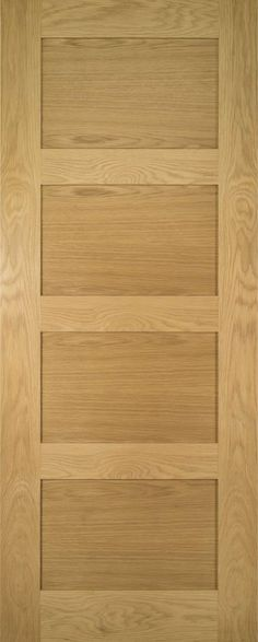 Deanta Coventry Four Panel Shaker Style Door This beautifully crafted Deanta Coventry Four Panel Shaker Style Door has been designed to complement a wide range of homes and interior finishes. Constructed using the finest Nort Doors And Floors, Wood Doors, Windows And Doors, Home Interior Design, Interior Styling, Interior Door, 4 Panel Doors, Solid Oak Doors, Veneer Door