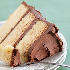 Butter Layer Cake with Chocolate Frosting