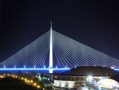 Ada Bridge, Belgrade, Serbia