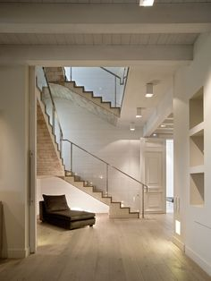 Minimal- Modern. Rehabilitation of an old country house in alicante.  Love the mixture of stone, wood, clean white walls. Not one texture dominates, well balanced use of textures.