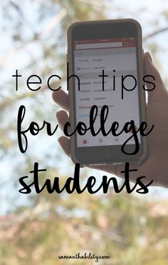 Tech Tips for college students