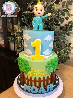 Baby Boy 1st Birthday Party, 2nd Birthday Party Themes, 1st Birthday Cakes, Melon Cake, Birthday Party Photography, Fondant Cupcake Toppers, Itu, Bambam, Birthdays