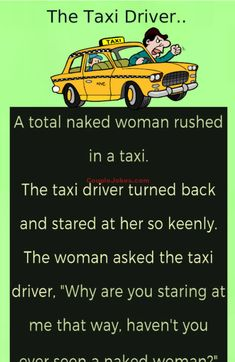 A Taxi driver started staring at a Woman