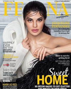 Jacqueline Fernandez looks amazing as she appears on the cover page of Femina magazine September 2017 issue. In Bollywood, Jacqueline would be seen … V Magazine, Magazine Covers, Jacqueline Fernandez, Bollywood Actors, Bollywood Celebrities, Bollywood Saree, Bollywood Fashion, Hot Actresses, Beautiful Actresses
