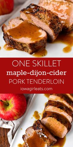 Low Unwanted Fat Cooking For Weightloss 1 Skillet And 30 Minutes Is All It Takes To Make Maple-Dijon-Cider Pork Tenderloin. Saucy And Succulent, This Scrumptious Gluten-Free Dinner Recipe Will Knock Your Socks Off. Mustard Pork Tenderloin, Pork Tenderloin Recipes, Pork Recipes, Cooking Recipes, Cooking Pork, Cooking Salmon, Pork Loin, Easy Cooking, Chicken Recipes