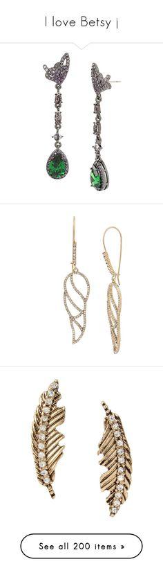 """I love Betsy j"" by sassiesavy on Polyvore featuring jewelry, earrings, multi, drop earrings, butterfly wing jewelry, cubic zirconia drop earrings, post earrings, post drop earrings, crystal and hook jewelry"