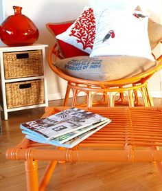 Cushion Spot: How to: Upcycled cane furniture Decor, Cane Outdoor Furniture, Diy Furniture, Furniture, Upcycled Furniture, Cane Furniture, Wicker Furniture, Cool Chairs, Home Decor