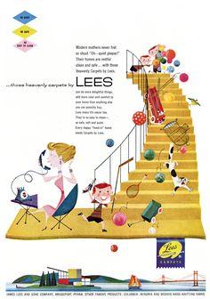 Lees carpets vintage ad by great Jan Balet