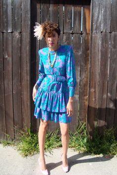 Silk Dress // Bohemian Clothing // Soft Grunge // by LoveItShop