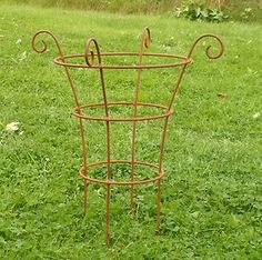HANDCRAFTED METAL GARDEN SMALL BORDER PLANT SUPPORT | eBay£15.99