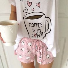 Pijama and coffee Cute Pjs, Cute Pajamas, Mode Style, Style Me, Teen Style, Pijamas Women, Southern Curls And Pearls, Ellie Saab, Hot Lingerie