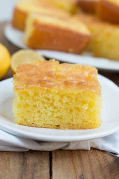 This Lemon Jello Cake is perfect for anytime of the year the fresh tastes of summer or to brighten the winter holiday meals. Lemon Jello Cake, Jello Cake Recipes, Sheet Cake Recipes, Dessert Recipes, Lemon Cakes, Recipes Dinner, Lemon Desserts, Lemon Recipes, Köstliche Desserts