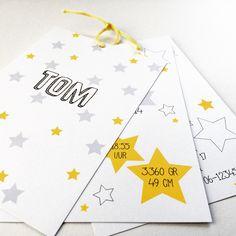 Geboortekaartje Tom - @designbyloes - www.loesvanmastwijk.nl