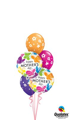 Bring colorful butterflies and flowers in her life - have a balloon bouquet delivery! #balloon #qualatex #mothersday