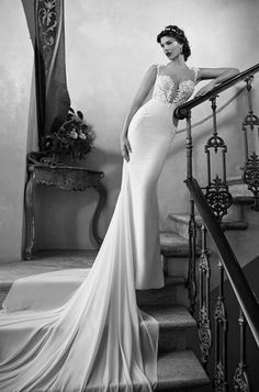 Gorgeous 1930s-inspired wedding gown by Berta Bridal. This dress is a show-stopper