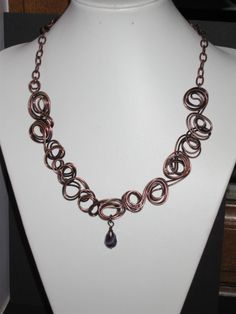 Handcrafted Aged Copper Necklace