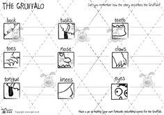 Teacher's Pet - Gruffalo Feature Descriptions (b) - Premium Printable Game / Activity - EYFS, grufalo, julia, donaldson, monster Primary Classroom, Classroom Activities, Learning Activities, Teaching Resources, Classroom Ideas, Describing Words, Children Stories, Story Sequencing, The Gruffalo