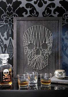 Look closely at our Skull String Art, if you dare, and note the startling level of skill that is required to create such an intricate and frightful form.: