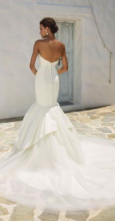 Courtesy of Justin Alexander Wedding Dresses; Wedding dress idea.