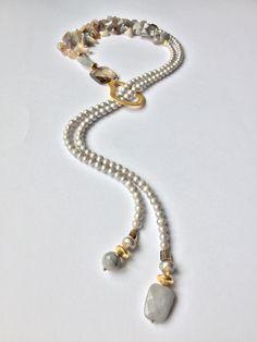 Nuevo extravagantes extravagante 6 reihige señora cadena collar con grandes Cruz