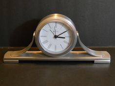 Bulova Sedona Tabletop Clock - Silver Table Clock B2450 #Bulova