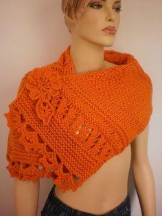 awesome Orange  Scarf-Wrap- Wool Scarf-Fall Fashion - designer scarf. $88.00, via Etsy.... Fashion designers Check more at http://pinfashion.top/pin/60467/