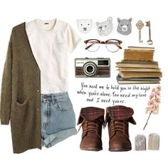 """""""freckles and tea"""" by kalipangborn on Polyvore"""