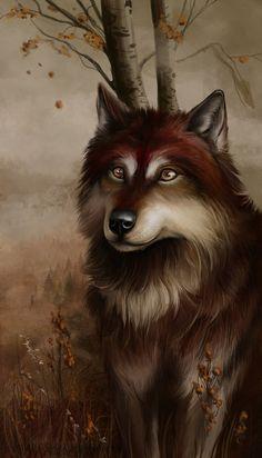 Autumn Wolf by Alaiaorax on DeviantArt