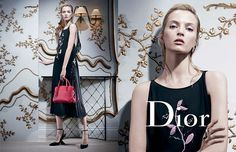 Daria Strokous & Iselin Steiro for Dior Fall/Winter 2013/2014 Campaign | The Fashionography