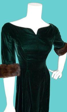 vintage velvet dresses   vintage velvet dress   Retro / Vintage Style…
