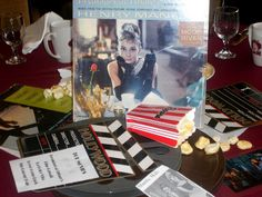 high school reunion movie themed centerpiece - highlight movies from your graduation year