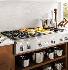 """ZGU484NGPSS - 48"""" Professional Gas Rangetop with 4 Burners, Grill, and Griddle (Natural Gas) - The GE Monogram Collection"""