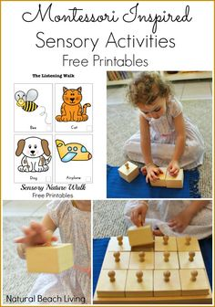 12 months of Montessori learning, Sensorial, Montessori sensory activities, Free Printables, nature listening walk, Sound activities, Maria Montessori