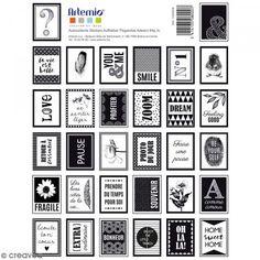 Stickers timbres décoratifs - Black