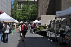 The scene at the Farmers' Market; a nice relaxed way to spend the morning!