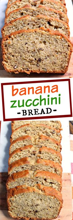 Banana Zucchini Bread is a great breakfast or dessert. With two loaves ...