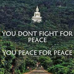 You don't fight for peace, you peace for Ayurveda Vata, Divorce Mediation, We Are All One, Love Conquers All, Choose Love, Special Characters, How To Be Outgoing, How To Introduce Yourself, Cool Words