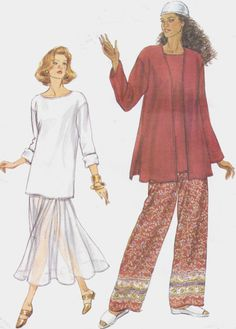 90s Very Easy Very Vogue Sewing Pattern 9016 Womens by CloesCloset, $11.00