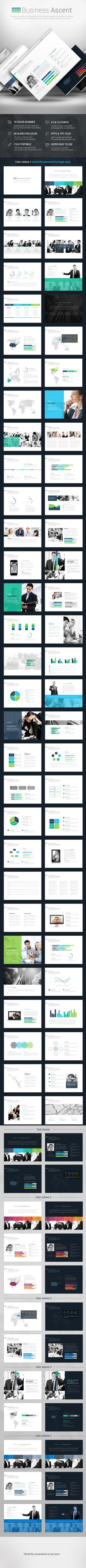 Template Formal Letter%0A Business Ascent Powerpoint Presentation Template